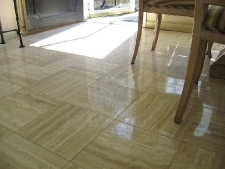 Clean and Polished Travertine
