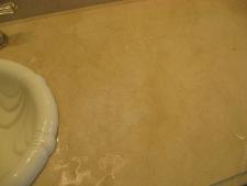 Acid Damaged Marble Counter