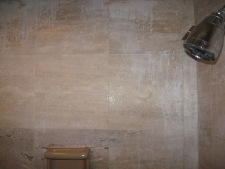 Shower Damaged Travertine