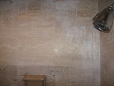 Shower Damaged Travertine
