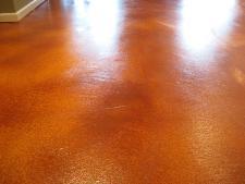 Acid Stained Basement